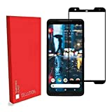 CELLUTION Google Pixel 2 XL Full Coverage 5D Tempered Glass, Full Edge-to-Edge 5D Screen Protector for Google Pixel 2 XL - Black