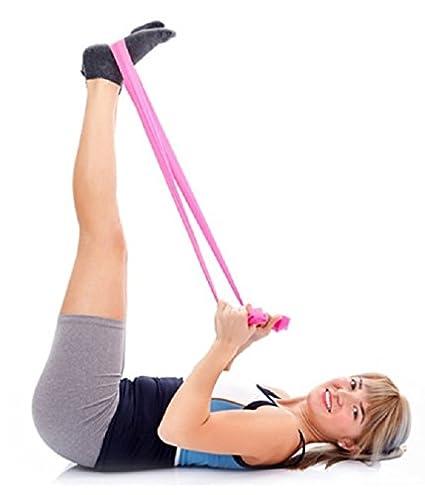 Amazon.com : 2-Pack - PINK - Elastic Yoga Pilates Rubber ...