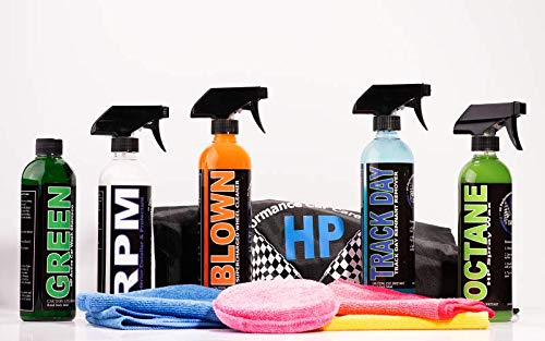 H.P Car Care Essential Detailing Kit: Shampoo, Interior Cleaner & Detailer, Bug, Tar & Rubber Compound Remover, Wheel Cleaner and The Very Best Sealant/Wax That Money Can Buy!