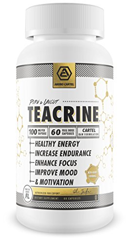 ✮NEW✮ TeaCrine (Theacrine) Capsules – Max Strength – Energy Focus Motivation Endurance – 60 Servings