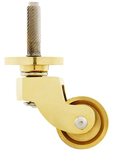 Solid Brass English-Style Caster with 1