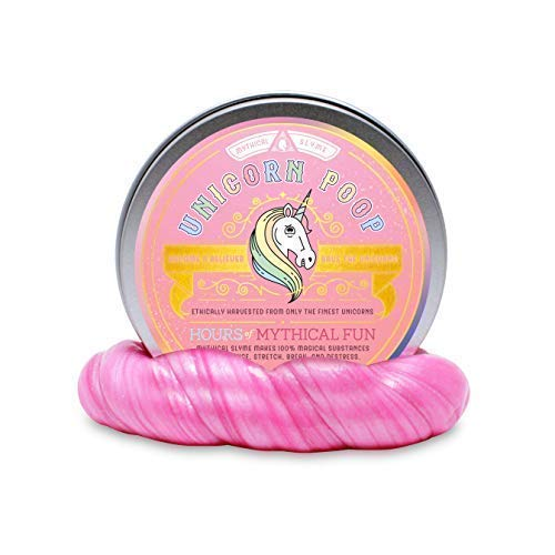 Mythical Slyme s Unicorn Poop(Small, Handy, Pocket-Size Fit for Travels Unicorn Putty) - Hypoallergenic, Non-Toxic, Stress-Reliever Desk Toy - Great Relaxation Tool - Lavender Scented Unicorn Slime