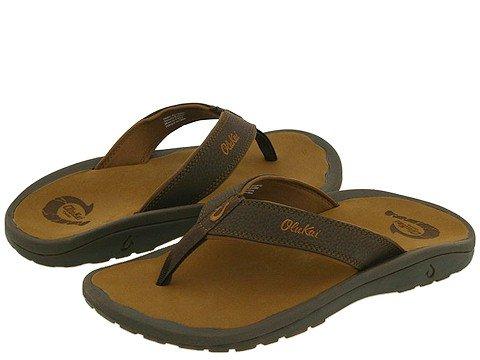 OLUKAI Men's Ohana Sandals, Dark Java/Ray, 13 M US