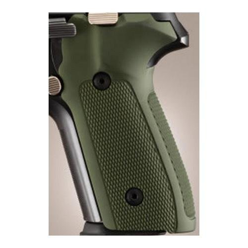 Hogue 28171 Sig P228/P229 Grips, Checkered Aluminum Matte Green Anodized
