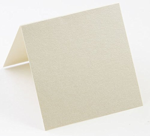 Stardream Opal Square - 5 1/4 Square Stardream Opal Blank Cards - Folded, 105lb Cover, 25 Pack