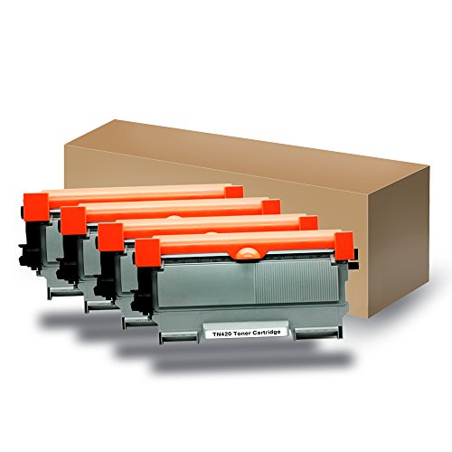 Wholesale Compatible Replacement Laser Toner Cartridge for Brother TN450/TN420, Compatible with Brother Printers HL 2240D/2250DN HL-2130,for Lenovo LT2441/ LT2461 [Black, 4 Packs]