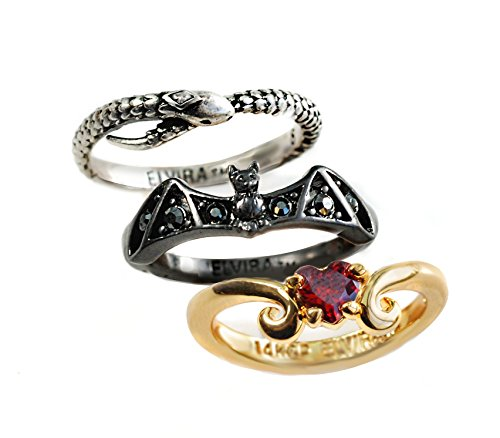 Romance Ring (Elvira's Stacking Ring Set: Bat, Serpent, Heart (9))