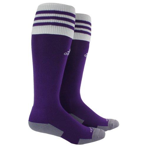 adidas Copa Zone Cushion II Sock, Collegiate Purple/White, Small Purple Kids Soccer Socks