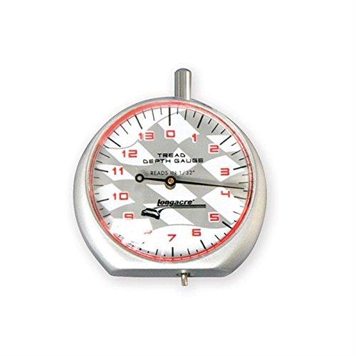 Longacre Racing 52-50562 Tread Depth Gauge W/Silver