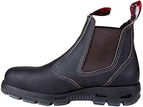 4cfc2029751 Redback USBOK Chelsea Boots Claret Brown with Steel Toe Cap from ...