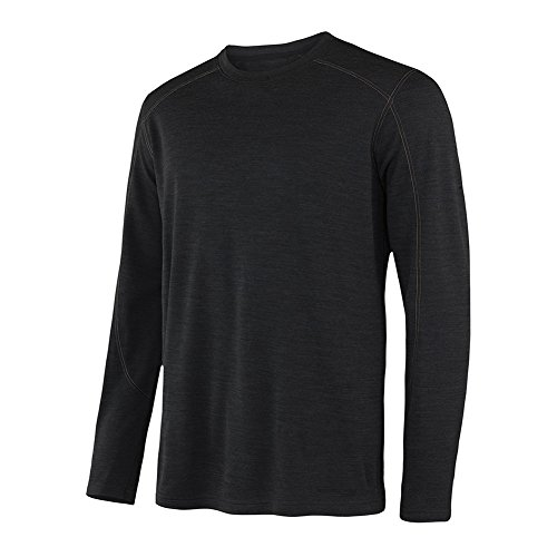 Thermal Wool T-shirt - Terramar Men's Thermawool Merino Wool Long Sleeve Crew, Large (42