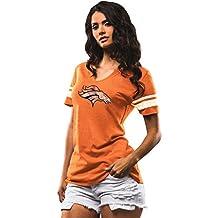 """Denver Broncos Women's Majestic NFL """"Break the Tie"""" Tri-Blend T-shirt"""