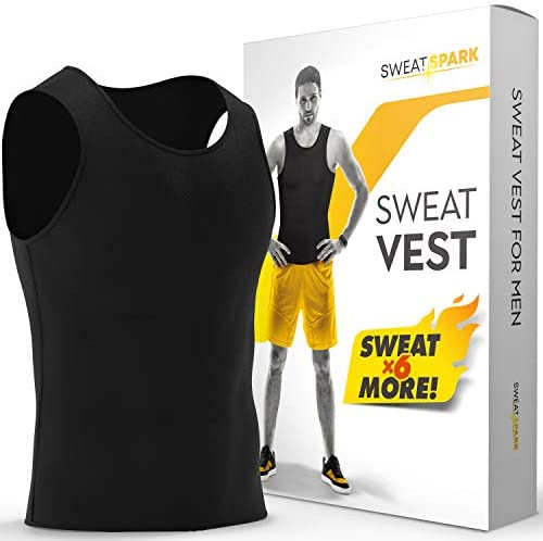 Sweat Vest for Men - (XS-10XL) - Advanced Weightless Neoprene Sauna Shirt – Increase Your Workout Motivation - Designed in The USA 1
