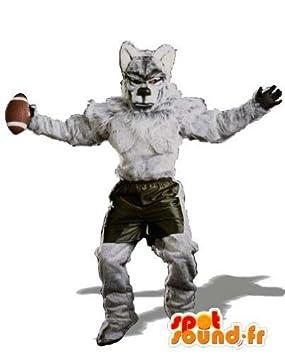 Jugador de rugby Disfraz Lobo: Amazon.es: Juguetes y juegos