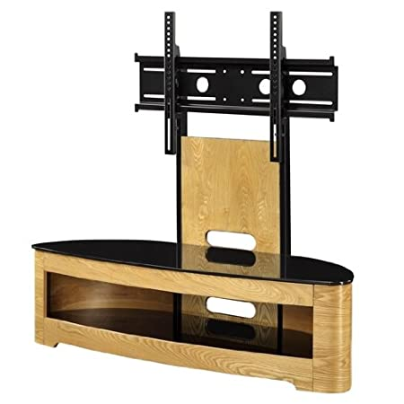 Curved Wooden Oak Veneer LCD/Plasma Cantilever TV Stand,JF209 [JF209 Jual