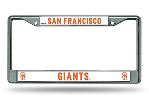 - San Francisco Giants New Design Chrome Frame Metal License Plate Cover Baseball