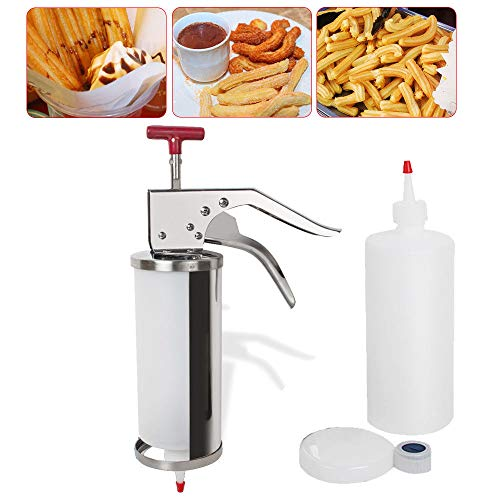 Zinnor1L churros filling machine Commercial Stainless Steel removable churros filler machine/jam stuffing filling ()