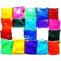 Shree Seller's Set of 10 pkts Design Creativity Diwali Floor Rangoli Art Colors 500gm Multicolour, Rangoli Color Powder.