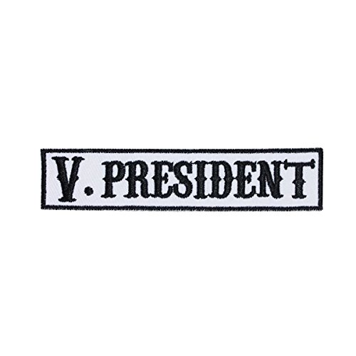 V. President SOA Name Tag Vice Patch Biker Gang Embroidered Iron On Applique (Best Biker Gang Names)