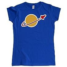 Stooble Womens's Space logo Royal T-Shirt, Size XXL