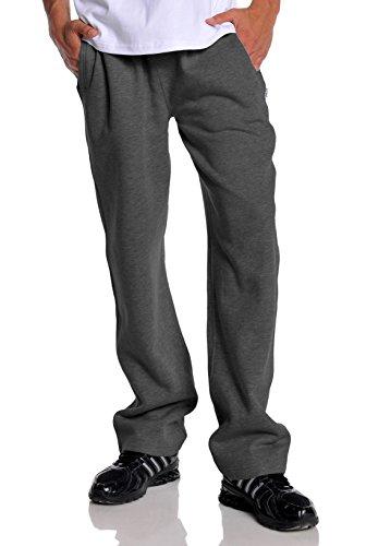 Pro Club Mens Open Bottom Comfort Fleece Sweatpant, Charcoal