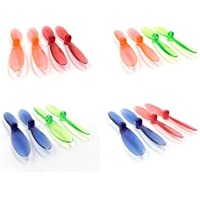 Hubsan X4 H107D [QTY: 1] Transparent Clear Blue and Green Propeller Blades Props Rotor Set 55mm Factory Units [QTY: 1] Red [QTY: 1] Orange [QTY: 1] - FAST FROM Orlando, Florida USA!