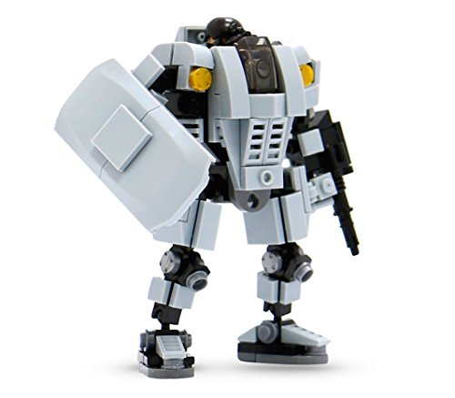 MyBuild Mecha Frame Base Defender MF05-A01 Building Toy with Cockpit for Mini Pilot Figure
