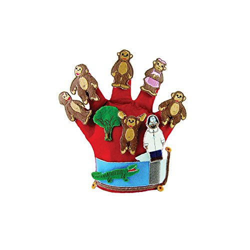 Get Ready Kids Glove Puppet Set: Monkeys Jumping on The Bed
