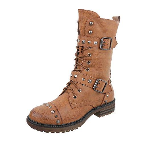 Women's Boots Block Heel Cowboy & Biker Boots at Ital-Design Camel G6pvEURV