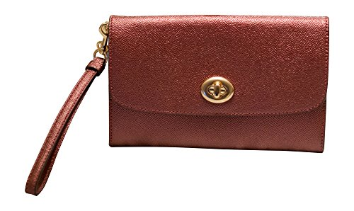 Coach Metallic Leather Chain Crossbody, Clutch, Handbag, Metallic Cherry (Metallic Cherry)