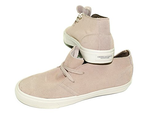 - American Eagle Women's Genuine Leather Bootie Lace-Up Sneaker (10, Tan)