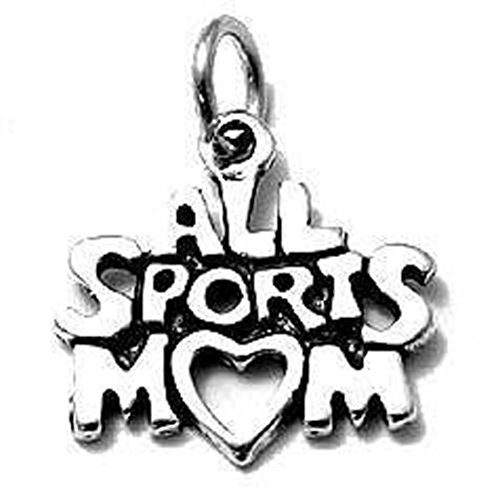 Sandra Creative Design Silver-tone All Sports Mom Charm (Bracelet Michael Jackson Charm)