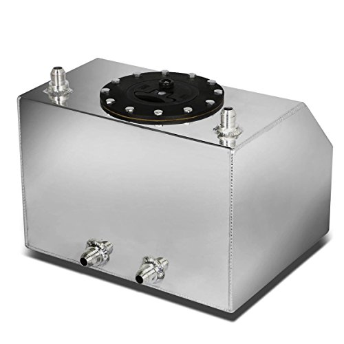 DNAMotoring ALU-FT-B-BF-4G Aluminum Bottom-Feed Fuel Cell Gas Tank, 4 gal