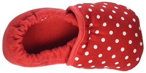 Nanga Pünktchen - Zapatillas de casa Bebé-Niños rojo (rojo)