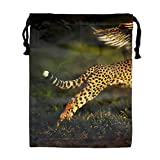 Leopard With Wings Party Supplies Favors Bags for Kids Boys Girls, Drawstring Goodie Treat Bags for Birthday Party Gifts