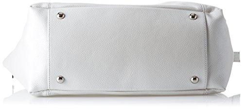 YNOT Sl02/Pe18, Borsa a Tracolla Donna, 14.5x27x46 cm (W x H x L) Bianco