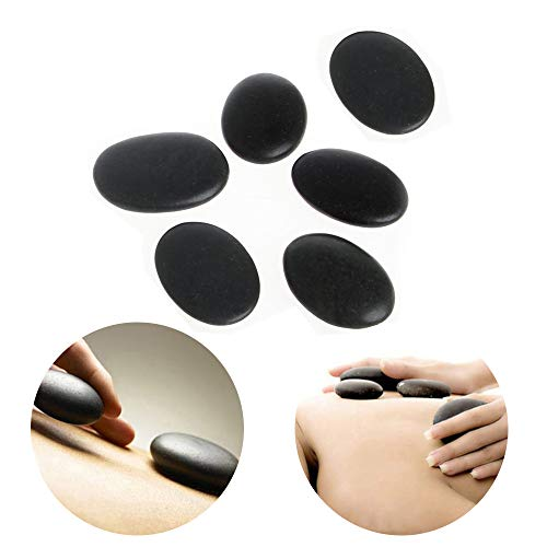 Massage Stones - Groupcow 6Pcs Hot Massage Stones Heated Warmer Rocks for Spa 2.4