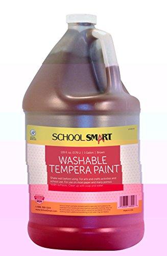 School Smart Washable Tempera Paint - Gallon - Brown