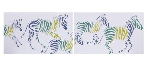 Cotton Tale Wall Art - Cotton Tale Designs Wall Art, Zebra Romp, 2 Count