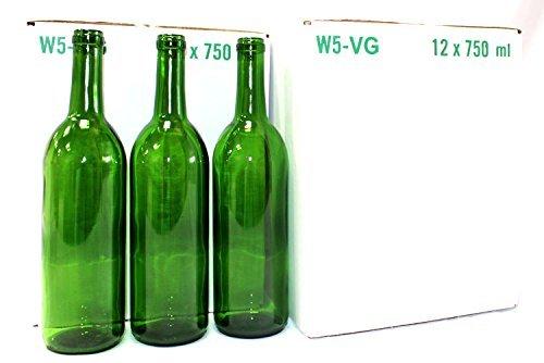 Home Brew Ohio Bordeaux Wine Bottles-2 Cases, Green