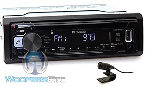 Kenwood KDC-BT21 In-Dash 1-DIN CD/MP3 Car Stereo Receiver with Bluetooth and Front USB Input (Audio De Auto)