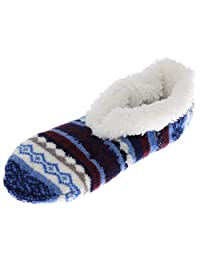 Weinberg Hosiery Aloe Infused Women's Slipper Socks, Sherpa Lined, One Size,