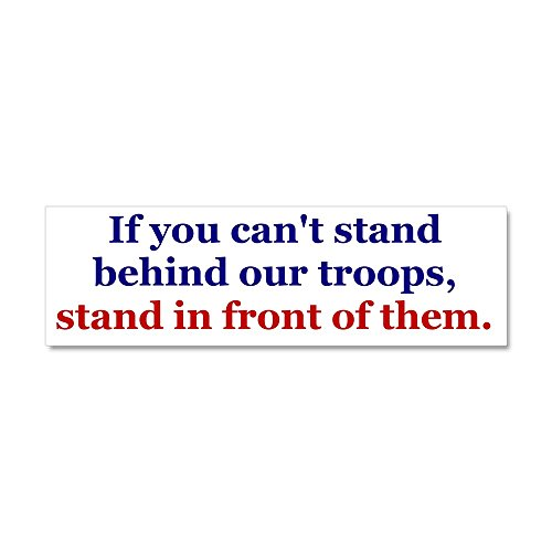 CafePress - Stand_Front_Bumper - Car Magnet 10 x 3, Magnetic Bumper Sticker