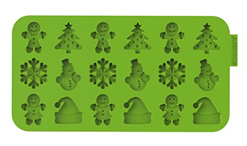 (Siliconezone SZ13OM-11858AA Christmas Chocolate Wafer Mold,)