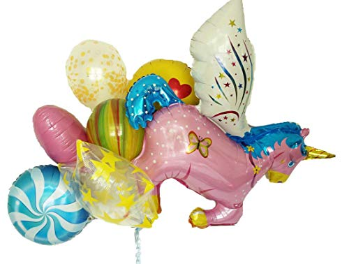 Unicorn Balloon Bouquet! 7pc Balloon Pack Unicorn Party Decorations - Giant 43