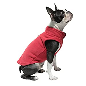 Gooby Every Day Fleece Cold Weather Dog Vest for Small Dogs, Red, Medium