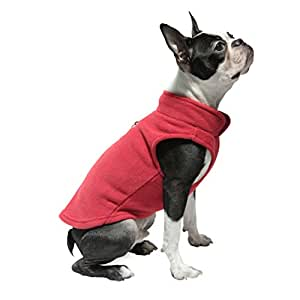 Gooby Every Day Fleece Cold Weather Dog Vest for Small Dogs, Red, Large