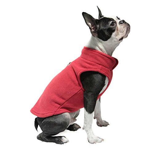 Fleece Harness (Gooby Every Day Fleece Cold Weather Dog Vest for Small Dogs, Red, Large)