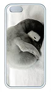 iCustomonline iPhone 5 5s Custom Emperor Penguin TPU White Back Cover Case for iPhone 5 5s