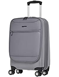 Hybrid Exterior Carry-On Expandable Spinner Luggage Suitcase - 22 Inch, Grey